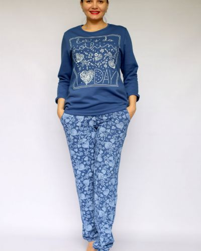 Пижама с брюками зимняя с начесом Грандсток