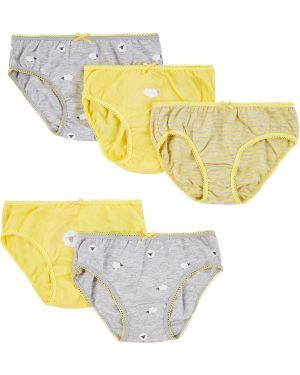 Трусы серые желтый Mothercare