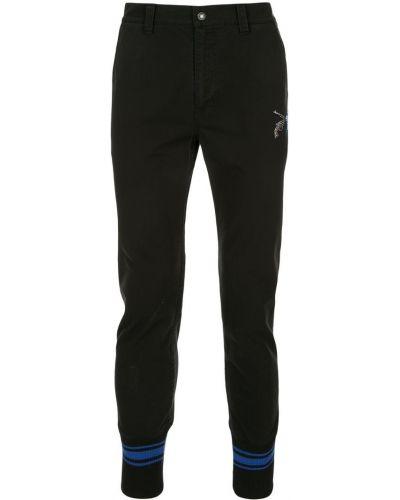 Черные джинсы на пуговицах с воротником Roarguns