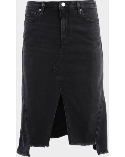 Джинсовая юбка миди - черная Armani Exchange