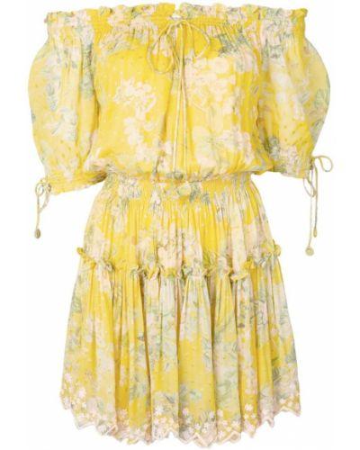 Платье на бретелях с цветочным принтом Hemant And Nandita