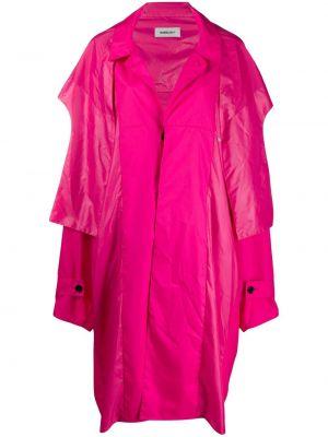Różowy ponczo z długimi rękawami z mankietami Ambush