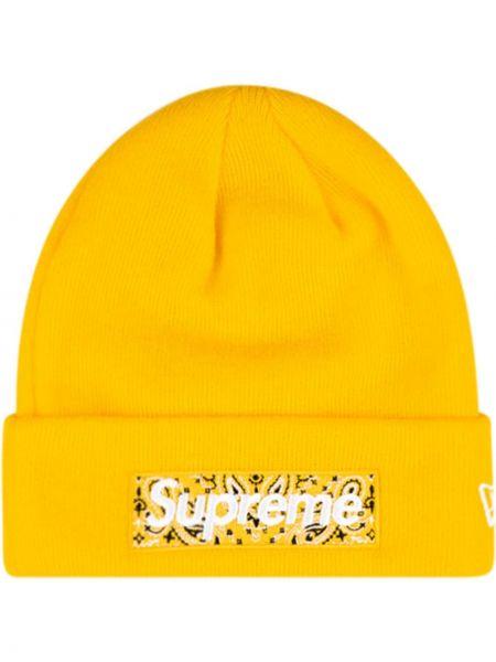 Trykotowy kapelusz z logo Supreme