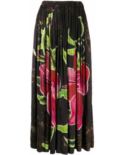 Черная расклешенная юбка макси на резинке Vivienne Westwood Pre-owned