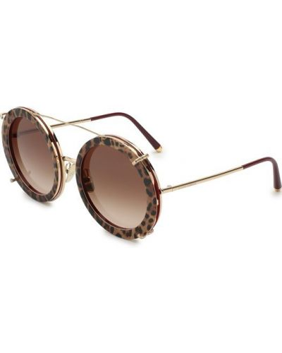 Солнцезащитные очки леопардовые Dolce & Gabbana