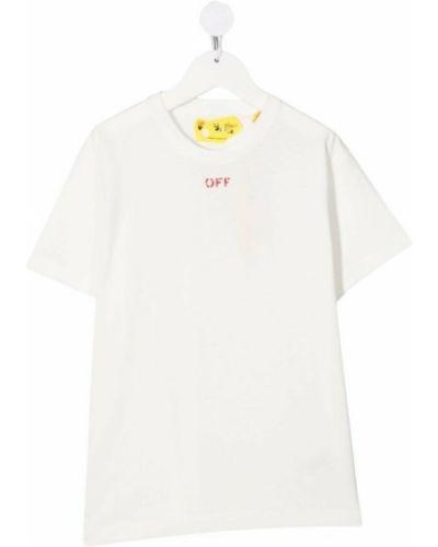 T-shirt bawełniana - biała Off-white