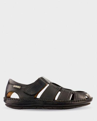 Кожаные сандалии - черные Pikolinos