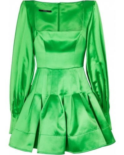 Satynowa zielona sukienka szmaragd Alex Perry