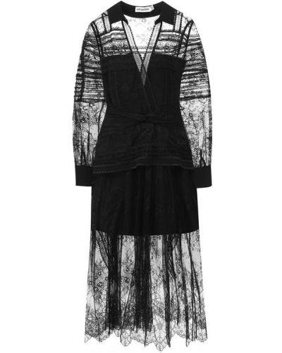 Платье с подкладкой ажурное Self-portrait