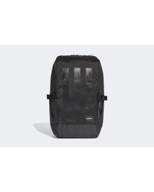 Czarny sport plecak w paski Adidas