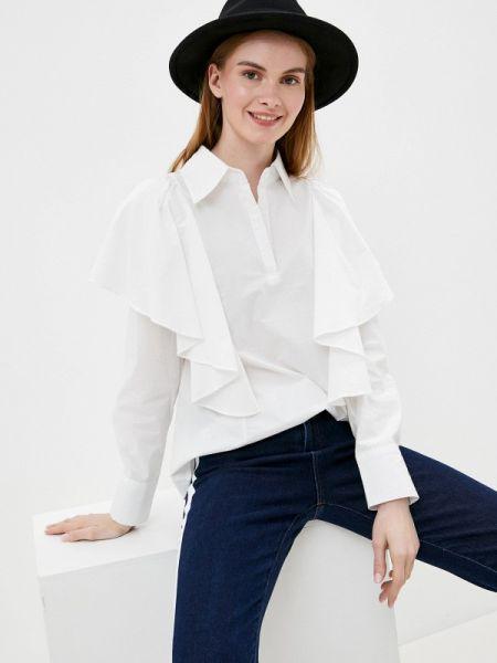 Блузка с рюшами белая Tantra