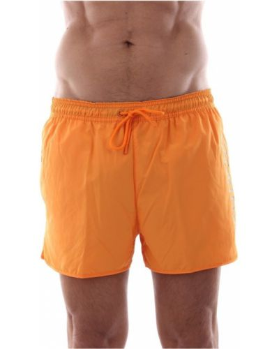 Pomarańczowe kąpielówki na basen Calvin Klein