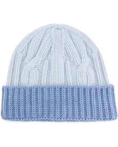 Вязаная шапка с отворотом кашемировая Tak.ori