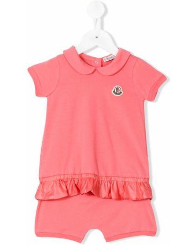 Спортивный костюм розовый короткий Moncler Kids