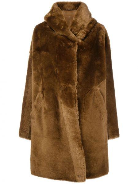 Кожаное пальто оверсайз с капюшоном Sylvie Schimmel