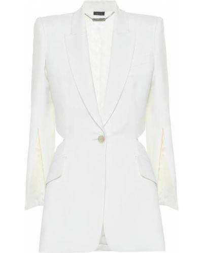 Классический пиджак шерстяной белый Alexander Mcqueen