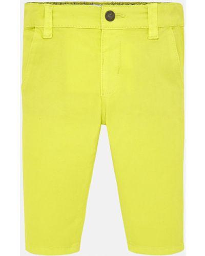 Spodnie chinos żółty Mayoral