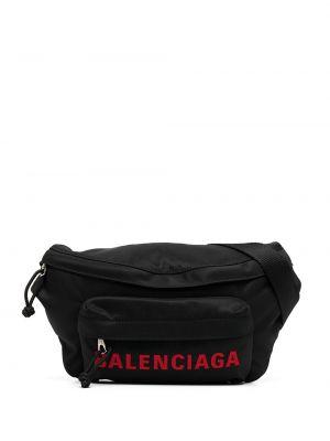 Льняной черный ремень с поясом Balenciaga