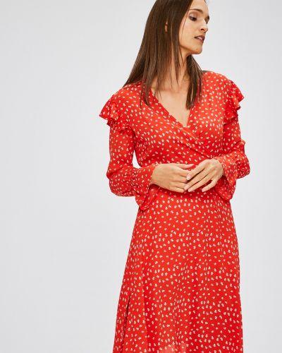 Платье мини с запахом с длинными рукавами Trendyol
