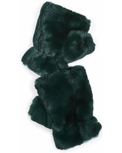 Zielone rękawiczki bez palców szmaragd Apparis