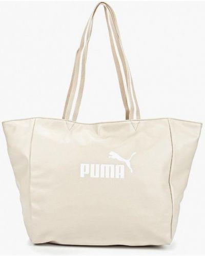 Бежевая спортивная сумка Puma