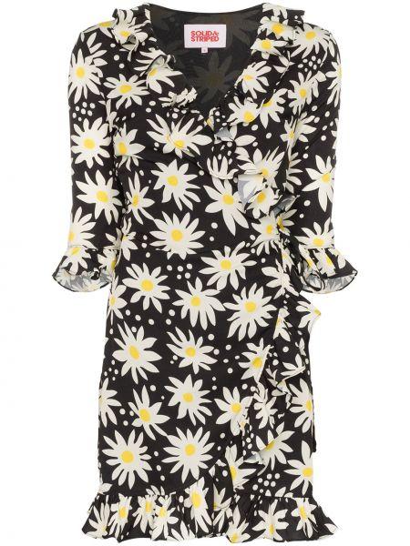 Платье мини с запахом в полоску Solid & Striped