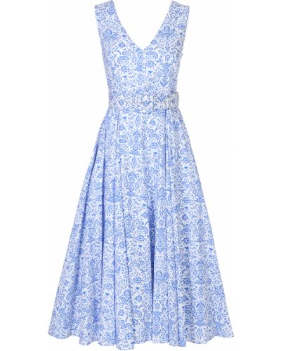 Расклешенное приталенное платье миди с поясом Terekhov