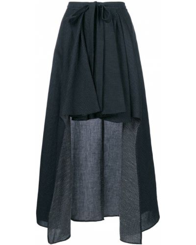 Асимметричная юбка - синяя Chalayan