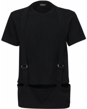Czarny t-shirt bawełniany Comme Des Garcons
