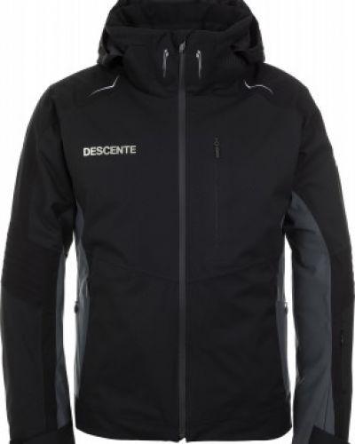 Куртка с капюшоном - черная Descente