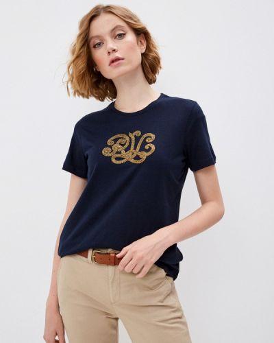 Синяя футболка с короткими рукавами Lauren Ralph Lauren