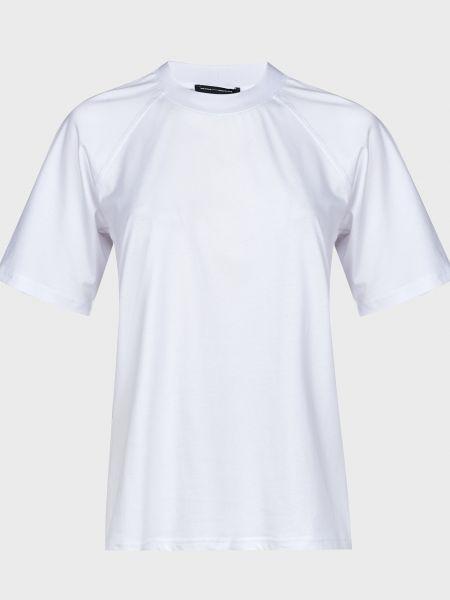 Хлопковая футбольная белая футболка The Fifth Label