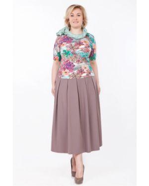 Повседневная прямая юбка макси со складками из вискозы Palla