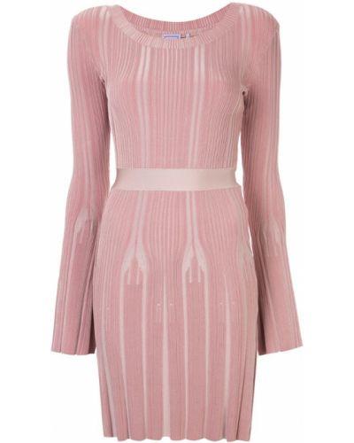 Платье макси длинное - розовое Herv Lger
