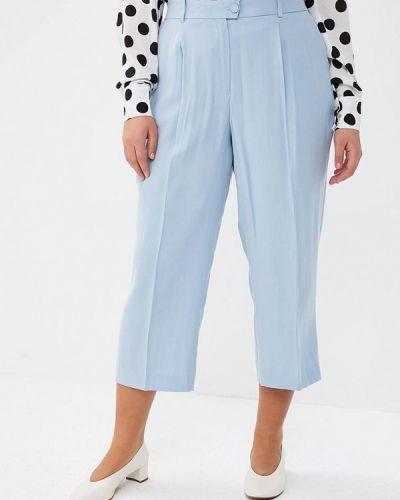 Голубые брюки прямые Violeta By Mango