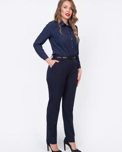 Повседневные зауженные синие брюки с защипами Diolche