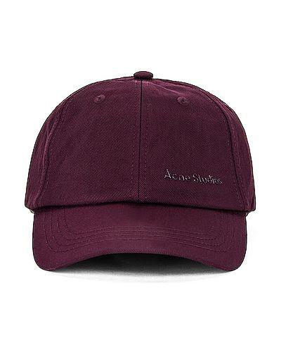 Джинсовая шапка - красная Acne Studios