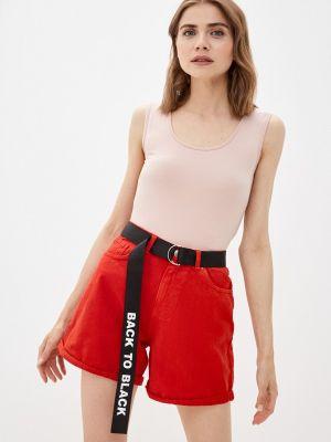 Розовая футболка с короткими рукавами Mana