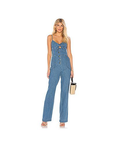Джинсовый комбинезон на лямках на пуговицах Joe's Jeans