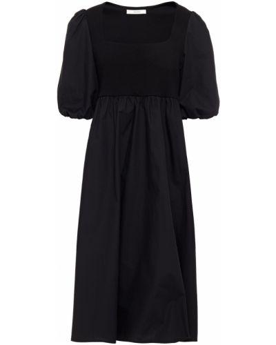 Трикотажное платье миди - черное Gestuz