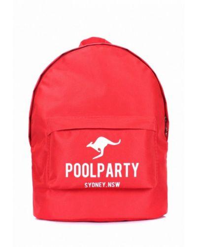 Красный рюкзак Poolparty
