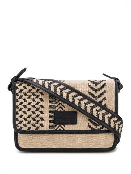 Skórzany torba z logo Lala Berlin