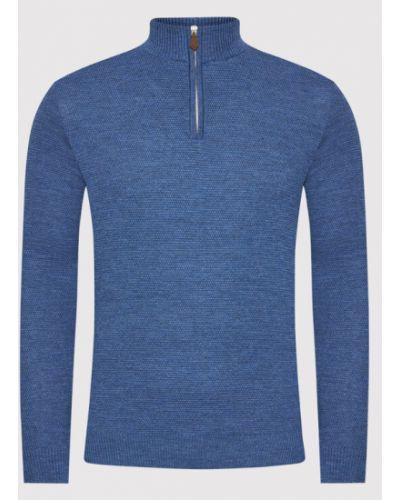 Sweter - niebieski Stenströms
