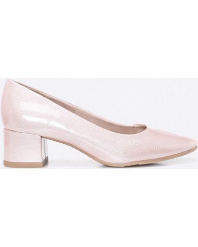 Туфли на каблуке розовый Jana