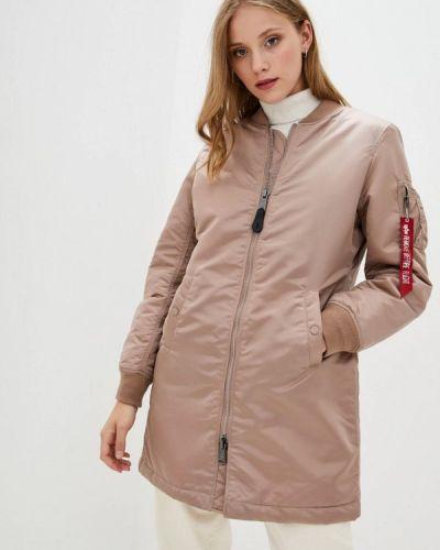 Розовая теплая куртка Alpha Industries