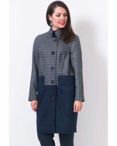 Пальто классическое с воротником в клетку с карманами Modellos