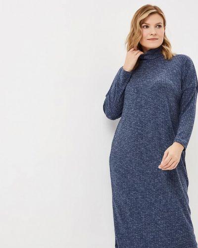 Повседневное платье осеннее синее Артесса