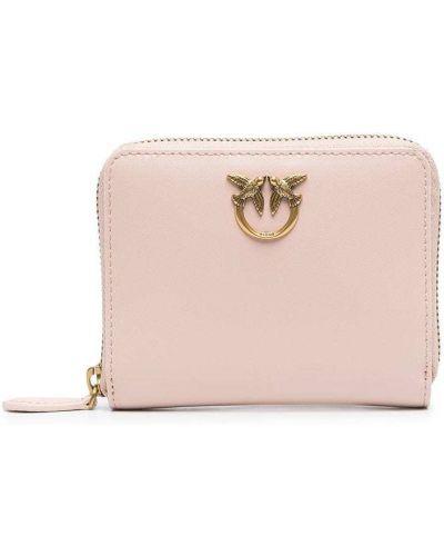 Różowy portfel skórzany Pinko