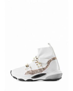 Кожаные высокие кроссовки - белые Stefano Lompas
