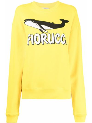 Żółta bluza bawełniana Fiorucci